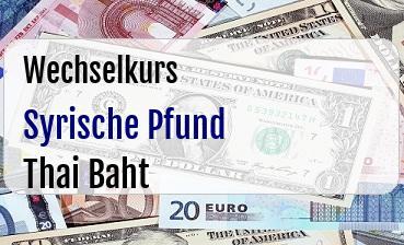 Syrische Pfund in Thai Baht