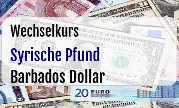 Syrische Pfund in Barbados Dollar