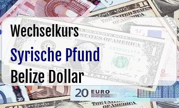 Syrische Pfund in Belize Dollar