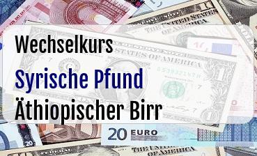 Syrische Pfund in Äthiopischer Birr