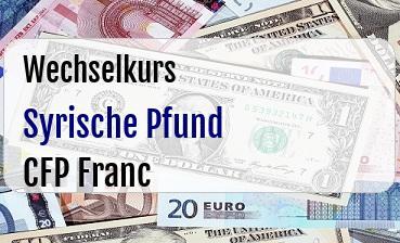 Syrische Pfund in CFP Franc