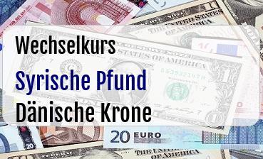 Syrische Pfund in Dänische Krone
