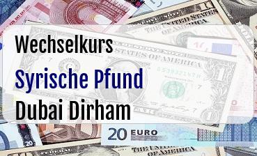 Syrische Pfund in Dubai Dirham