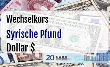 Syrische Pfund in US Dollar