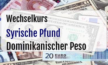 Syrische Pfund in Dominikanischer Peso
