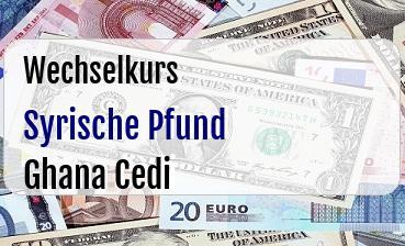 Syrische Pfund in Ghana Cedi