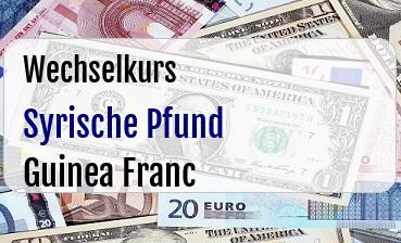 Syrische Pfund in Guinea Franc