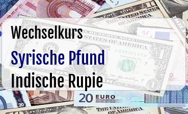 Syrische Pfund in Indische Rupie