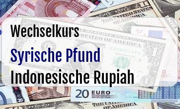 Syrische Pfund in Indonesische Rupiah