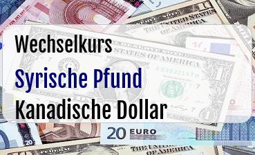 Syrische Pfund in Kanadische Dollar