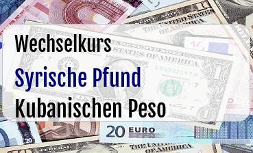 Syrische Pfund in Kubanischen Peso