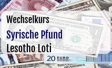 Syrische Pfund in Lesotho Loti