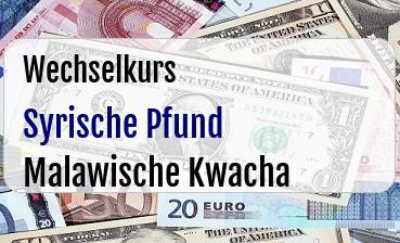 Syrische Pfund in Malawische Kwacha
