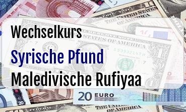 Syrische Pfund in Maledivische Rufiyaa