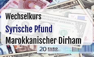 Syrische Pfund in Marokkanischer Dirham