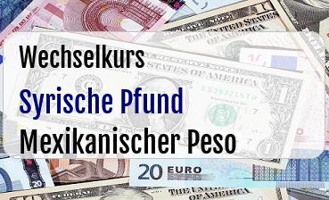 Syrische Pfund in Mexikanischer Peso