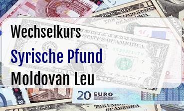 Syrische Pfund in Moldovan Leu