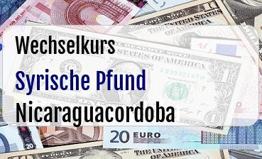 Syrische Pfund in Nicaraguacordoba