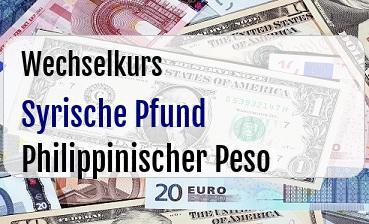 Syrische Pfund in Philippinischer Peso