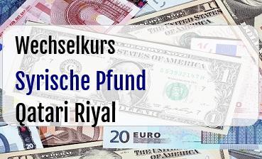 Syrische Pfund in Qatari Riyal