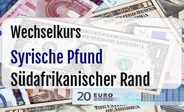 Syrische Pfund in Südafrikanischer Rand