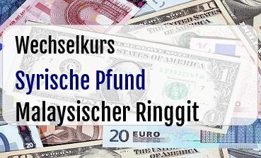 Syrische Pfund in Malaysischer Ringgit