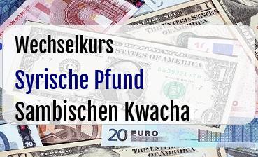 Syrische Pfund in Sambischen Kwacha