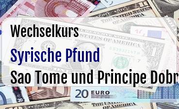 Syrische Pfund in Sao Tome und Principe Dobra