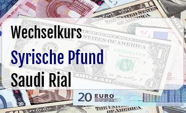 Syrische Pfund in Saudi Rial