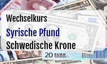 Syrische Pfund in Schwedische Krone