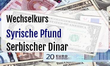 Syrische Pfund in Serbischer Dinar