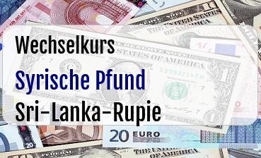 Syrische Pfund in Sri-Lanka-Rupie