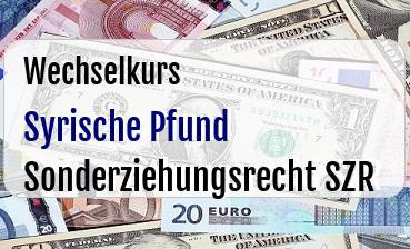 Syrische Pfund in Sonderziehungsrecht SZR
