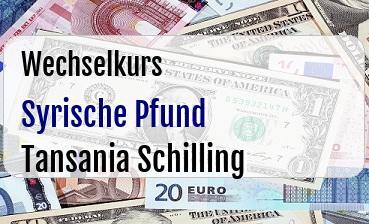 Syrische Pfund in Tansania Schilling