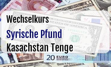 Syrische Pfund in Kasachstan Tenge