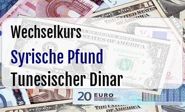 Syrische Pfund in Tunesischer Dinar