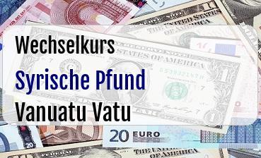 Syrische Pfund in Vanuatu Vatu