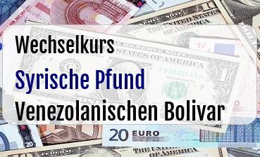 Syrische Pfund in Venezolanischen Bolivar