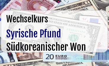 Syrische Pfund in Südkoreanischer Won