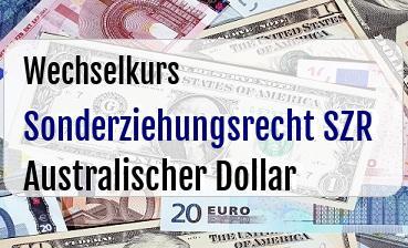 Sonderziehungsrecht SZR in Australischer Dollar