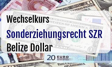 Sonderziehungsrecht SZR in Belize Dollar