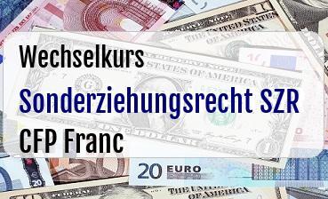Sonderziehungsrecht SZR in CFP Franc