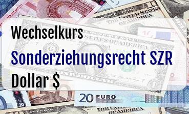 Sonderziehungsrecht SZR in US Dollar