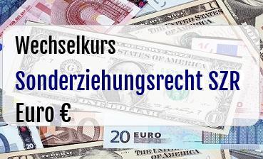 Sonderziehungsrecht SZR in Euro