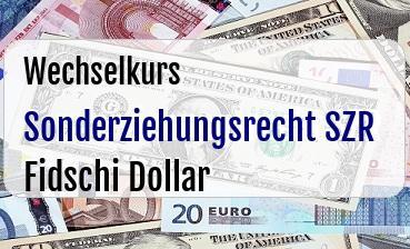 Sonderziehungsrecht SZR in Fidschi Dollar