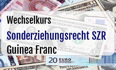 Sonderziehungsrecht SZR in Guinea Franc