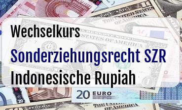 Sonderziehungsrecht SZR in Indonesische Rupiah