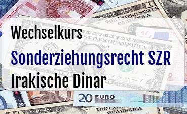 Sonderziehungsrecht SZR in Irakische Dinar