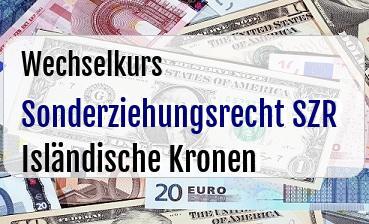 Sonderziehungsrecht SZR in Isländische Kronen