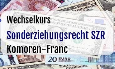 Sonderziehungsrecht SZR in Komoren-Franc